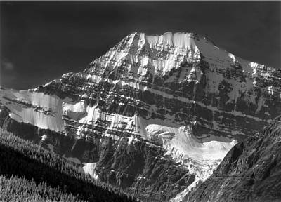 Photograph - 103852 North Face Mt. Edith Cavell Bw by Ed  Cooper Photography