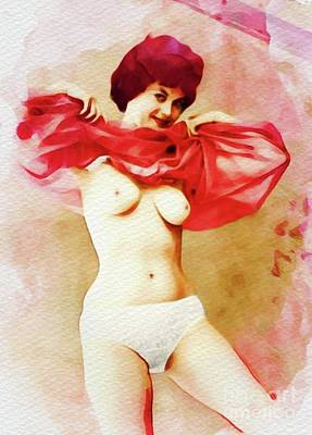 Painting - Vintage Pinup by Frank Falcon