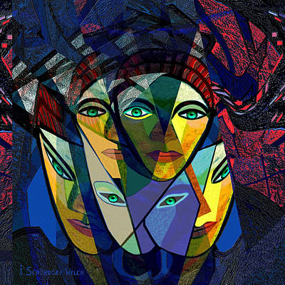 106 - Cubic Women  Art Print