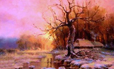 Sun Painting - Nature Landscape Artwork by Edna Wallen
