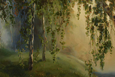 Forest Painting - Nature Landscape Light by Edna Wallen