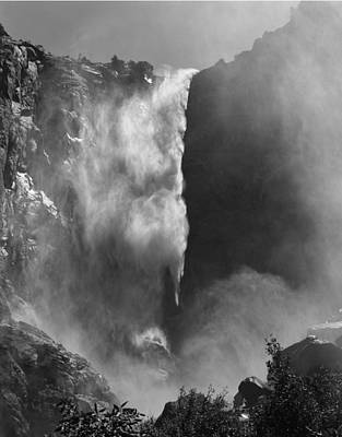 Photograph - 106721 Bridalveil Fall Bw by Ed Cooper Photography