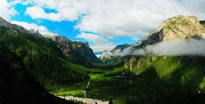 Summer Painting - Landscape Art Nature by Margaret J Rocha