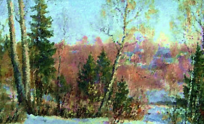 Tree Painting - Nature Landscapes Prints by Edna Wallen