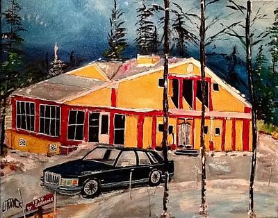 Painting - 1070 Saint Germaine Family Home Rimouski by Michael Litvack