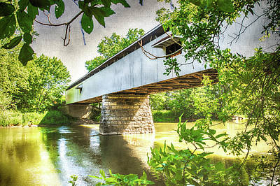 Old Country Roads Digital Art - 10704 Potter's Bridge by Pamela Williams