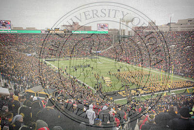 Mixed Media - 10728 Kinnick Stadium by Pamela Williams