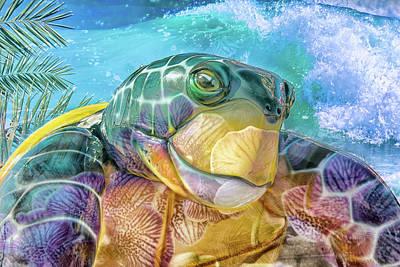 Mixed Media Royalty Free Images - 10730 Mr Tortoise Royalty-Free Image by Pamela Williams