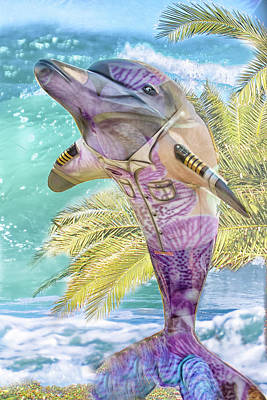 Mixed Media - 10733 Captain Flipper by Pamela Williams