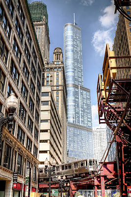 Farm Life Paintings Rob Moline - 1074 Trump Tower Chicago by Steve Sturgill