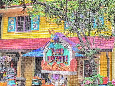 Store Fronts Mixed Media - 10767 Island Mercantile by Pamela Williams