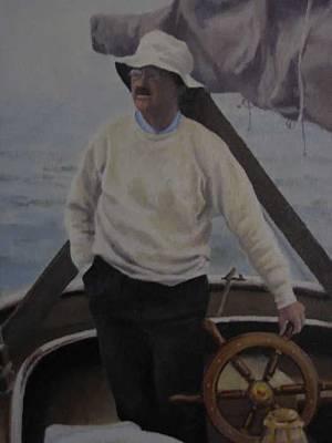 Painting - Mooring Hunt by David Rodman Johnson