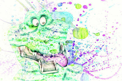 Mixed Media - 10785 Ali The Gator by Pamela Williams