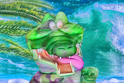 Mixed Media - 10790 Croc A Dile by Pamela Williams