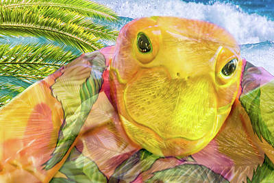 Turtle Mixed Media - 10795 Sea Turtle by Pamela Williams