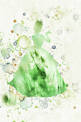 Mixed Media - 10807 Princess Tiana by Pamela Williams