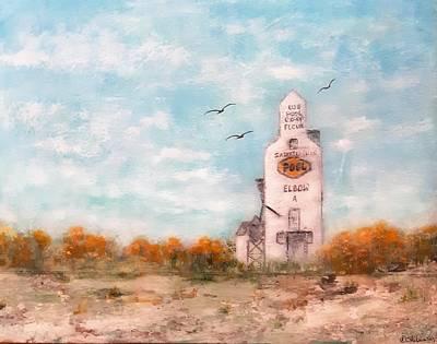 Painting - #1082 Saskatchewan Elevator by Linda Skibinsky