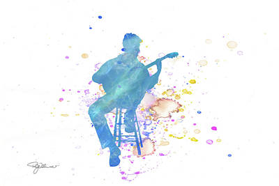 Mixed Media - 10830 Guitar Player by Pamela Williams