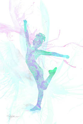 Mixed Media - 10835 The Gymnast by Pamela Williams