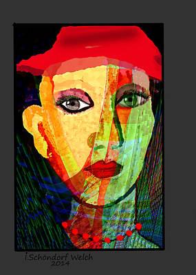 Digital Art - 1084- La Signora 2017 by Irmgard Schoendorf Welch