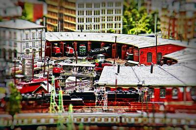 Miniatur Wunderland Wall Art - Photograph - 10850 Miniatur Wunderland #050 - Roundhouse by Colin Hunt