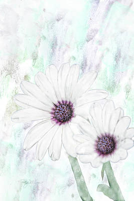 Blooming Digital Art - 10856 White Cape by Pamela Williams