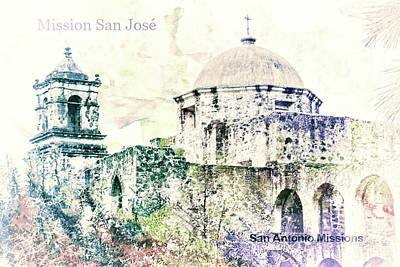 Digital Art - 10857 Mission San Jose by Pamela Williams