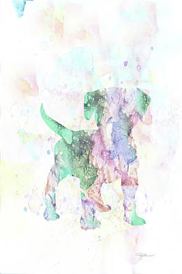 Mixed Media - 10860 Puppy Love by Pamela Williams
