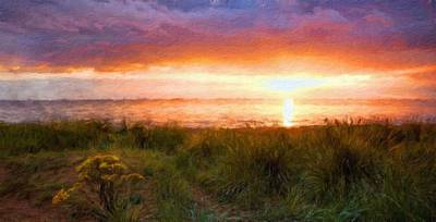 Blue Painting - Nature Landscape Jobs by Margaret J Rocha