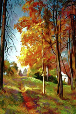 Reflection Painting - Nature Landscape Nature by Edna Wallen
