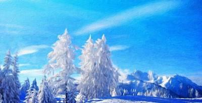 Nature Landscape Oil Painting Art Print by Margaret J Rocha