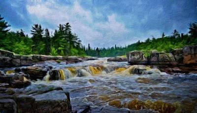 Evening Painting - Oil Paintings Art Landscape Nature by Margaret J Rocha