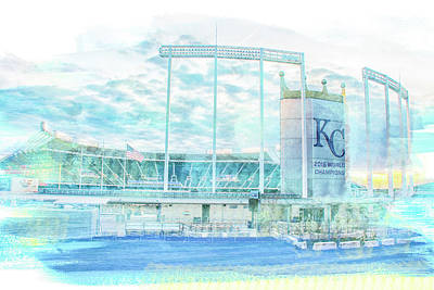 Photograph - 10926 Kauffman Stadium by Pamela Williams