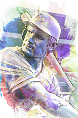 Digital Art - 10929 George Brett by Pamela Williams