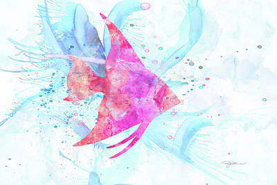 Digital Art - 10953 Angel Fish by Pamela Williams