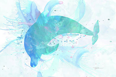 Digital Art - 10955 Dolphin by Pamela Williams