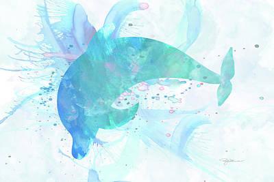 Digital Art - 10955 Dolphin by Pamela Williams