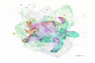 Digital Art - 10962 Sea Turtle by Pamela Williams