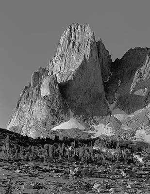 Photograph - 109637 Bw War Bonnet Peak, Wind Rivers by Ed  Cooper Photography