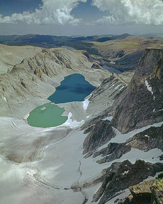 Photograph - 109717 Glacial Lakes Below Cloud Peak Glacier by Ed  Cooper Photography