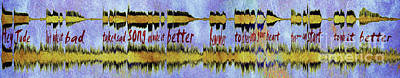 10975 Hey Jude By The Beatles With Lyrics Art Print