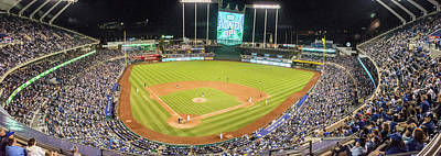 Photograph - 10989 Kauffman Stadium by Pamela Williams