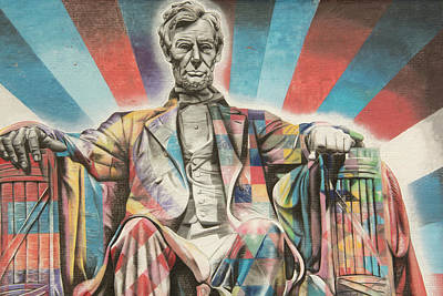 Photograph - 10991 President Lincoln Mural by Pamela Williams