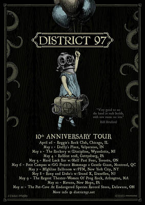 Digital Art - 10th Anniversary Tour by District 97