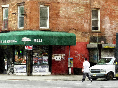 Corners Photograph - 10th Ave. Deli In Manhattan by Susan Savad