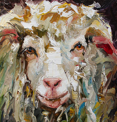 Painting - 10x10 Sheep by Diane Whitehead