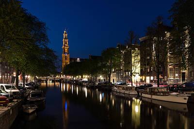 Photograph - 11 05 P M Blue Hour - Magical Amsterdam In June by Georgia Mizuleva