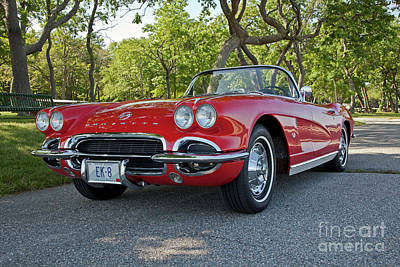 Photograph - 1962 Corvette by Butch Lombardi