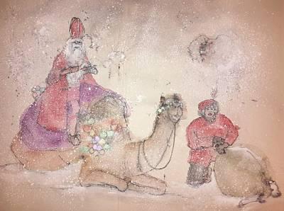 A Camel Story Album  Art Print by Debbi Saccomanno Chan