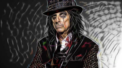 Rock And Roll Mixed Media - Alice Cooper Collection by Marvin Blaine